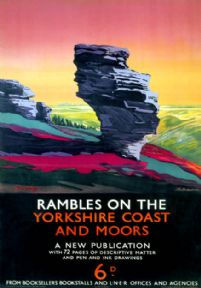 Rambles on the Yorkshire Coast and Moors. LNER Vintage Travel Poster by Schabelsky